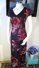 NWOT Laura Ashley Purple Silk Dress Size US 6 UK 10 EUR 36