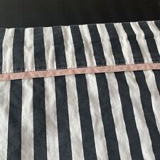 Pottery Barn Teen Emily & Meritt Pirate Striped  Black White FULL Flat Sheet