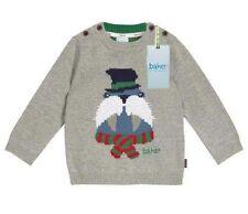 Ted Baker Baby Boy Jumper Sweater Cute Walrus Grey Designer 3-6 Months