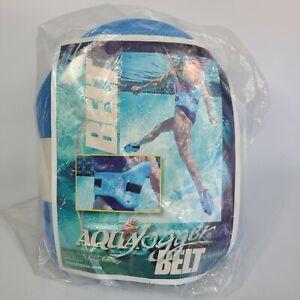 AquaJogger Fit Belt WATER WORKOUT Low-Impact Pool Fitness Petite Women BLUE