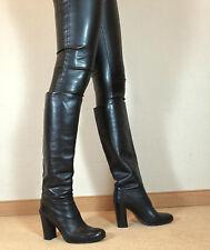 TOMMY HILFIGER Stephanie Echtleder Damenstiefel Knie Stiefel High Heels Boots 42