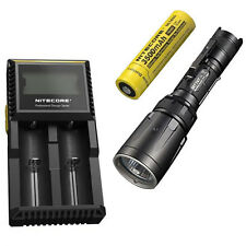 Combo: Nitecore SRT7GT Flashlight  w/NL1835 3500mAh Battery & D2 Charger
