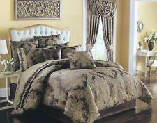 J. Queen New York Regina Tan Gold  Mink Queen Comforter Set