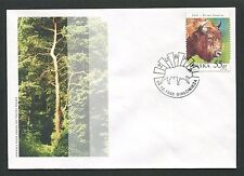 POLEN FDC FAUNA BISON BISONS WISENT WISENTE BUFALLO COVER POSTMARK d5996