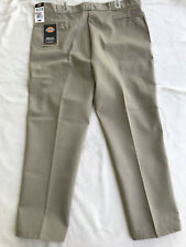 Dickies 874 Work Pant Khaki No Iron Crease Stain Release Pants Men's 44 X 32 new