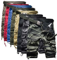 Men Camo Cargo Shorts Army Camouflage Combat Camo Cargo Pocket Short Pant Shop6