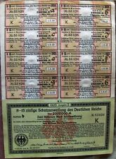 Vintage German 2,000,000 Marks (2 million) bond 1923 Sequential w/ all coupons