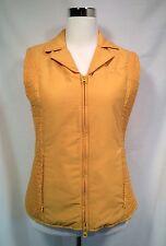 PRI Equestrian Riding Vest Women's Size M Slimming Waist Zip Front Yellow