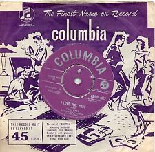 PAUL ANKA   I LOVE YOU BABY / TELL ME THAT YOU LOVE ME  UK COLUMBIA  50s/60s POP