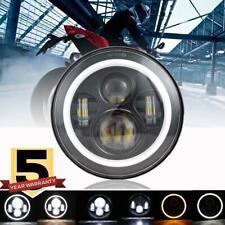 "DOT 7"" Round LED Headlight Halo DRL For Indian Chief Chieftain Roadmaster Yamaha"