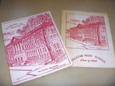 Decatur High School class Illinois 1944 reunion 1989 1984 souvenir booklets