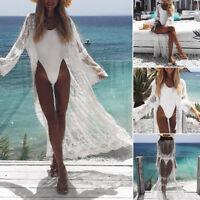 Summer Women  Kimono Beach Cardigan Bikini Cover Up Wrap Beachwear Long dress