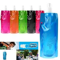 Foldable Collapsible Water Plastic Reusable Bottle Bag For Outdoor Travel