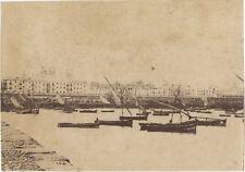 Cadix Le Port Espagne Photo Vintage Albumine c1875