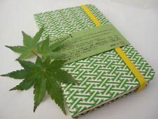 JAPAN AWAGAMI +1 POCKET NOTEBOOK JOURNAL BOOK PLAIN SPRING LIME