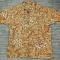 Tori Richard Hawaiian Shirt Men's Short Sleeve Large Aloha Shirt Cotton Lawn