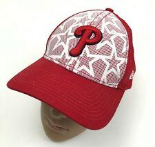NEW New Era Philadelphia Phillies Baseball Cap Hat Women Red White Strapback MLB