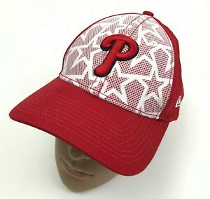 NEW New Era Philadelphia Phillies Baseball Cap Hat Women Red White Strapback MLB