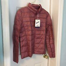 New! Sports Women's Small Pink Down Ultra Light Jacket Coat NWT