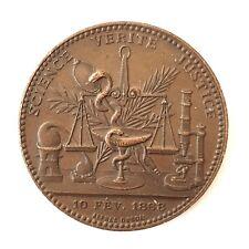 Médaille cuivre science vérité et justice 10 février 1868  (S1292)