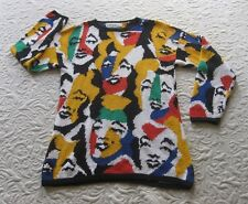 vintage MARYLIN MONROE pattern sweater - Adrienne Cittadini - M medium - rare