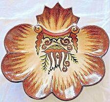 French  Earthenware oysters plate  P.FOUILLEN QUIMPER Bretagne /9 JELLYFISH
