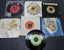 New listing Lot of 7 Vintage Vinyl Records 7 inch size most 45 Rpm Mixed as shown