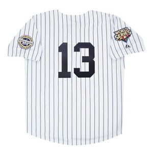 Alex Rodriguez 2009 New York Yankees World Series White Home Men's Jersey XL