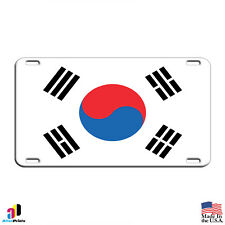South Korea Country Flag Aluminum Metal Novelty License Plate Tag