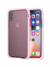 tech21 Evo Check Case Cover for Apple iPhone X and XS - Rose Tint/White OEM