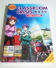 CLASSROOM CRISIS The Complete Anime TV Series Ep.1 - 12 End PLUS OVA DVD Box Set