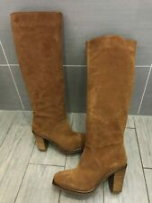 LADIES NEW TALL SUEDE LEATHER BRONX BOOTS, UK 7.5/41