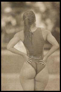 Risqe Pinup Girl Sexy vintage Antique Retro Brazilian athlete Woman Photo 4x6 B