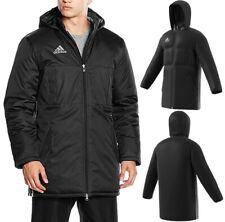 Adidas Herren Winter Mantel Parka Winter Jacke Stadion Pad Jacket Coat schwarz