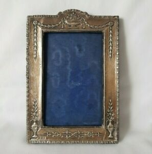 Antique English Hallmarked Sterling Silver Easel Photograph Frame - 1908