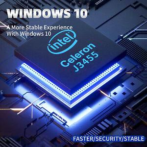 RUPA Mini Desktop PC Windows 10 Computer Intel Celeron J3455 HDMI Wifi HD SSD