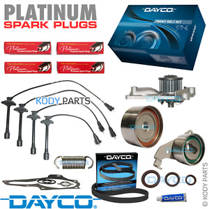 TIMING BELT KIT, W/PUMP, LEADS, PLATINUM PLUGS for Toyota Camry 2.2L 5SFE SXV20R