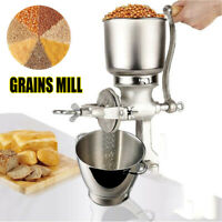 Heavy Duty Tall Cast Iron Mill Hand Crank Manual Grains Grinder Corn Wheat