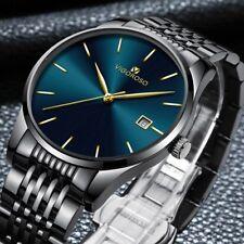 Fashion Men's Watches Stainless Steel Date Waterproof Sport Quartz Wrist Watch
