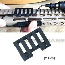 2PCS Tactical 5-slot Rail Cover With LowPro Wire Loom Gun Accessories US