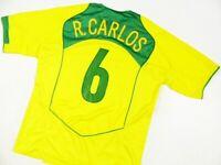 BRAZIL BRASIL _ SHIRT HOME 2004/06 #6 ROBERTO CARLOS _ JERSEY CAMISETA _ s:XL