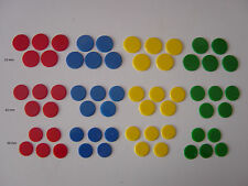 Counters, 20mm / 22mm / 25mm plastic, Tiddlywinks / Board Games, Various colours