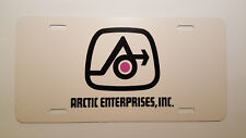 Vintage Arctic Enterprises Snowmobile Logo Novelty License Plate
