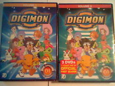 Official Digimon Season 1 DVD Lot! Volumes 1 & 3, New & Factory Sealed Sets!