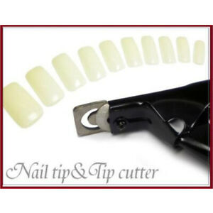 ARTIFICAL ACRYLIC NAILS TIP Cutter Clipper For False Nail Trimmer Manicure 3Way