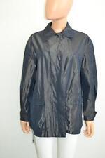 Iceberg Navy Iridescent Cotton w/ Toggle Waist Light-Weight Trench Coat, Sz 40