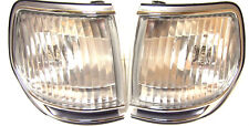 Toyota Land Cruiser HDJ 80 Chrome Indicators Corner Lights PAIR (LH+RH) crystal