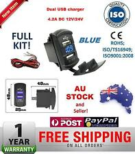 Dual USB Charger Carling Rocker Switch Voltmeter Nissan Navara Patrol Pathfinder