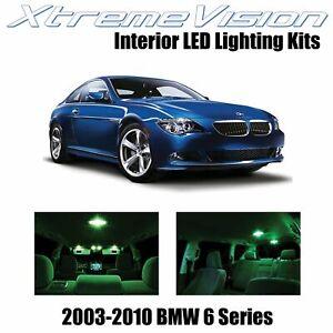 XtremeVision Interior LED for BMW 6 Series E63 E64 03-10 (11 PCS) Green