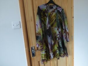Frank Usher 100% Silk Waterfall Evening Jacket/Over shirt Size 12